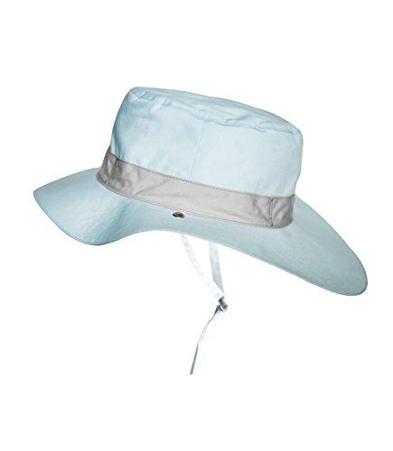 Ki ET LA Gorro Reversible 100% Anti UV Chapeau De Cowboy, Bleu/Panama Sky, 47-49 cm Bébé garçon