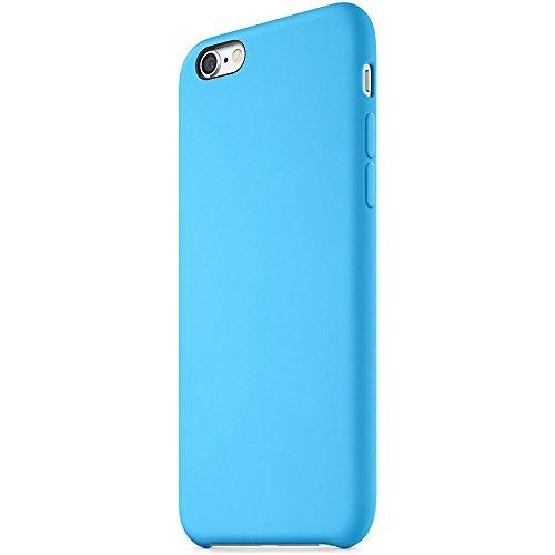 "iProtect® Apple iPhone 6 (4,7"") 6s Hülle Silikon Soft Case weiß Silikon Soft Case Blau."