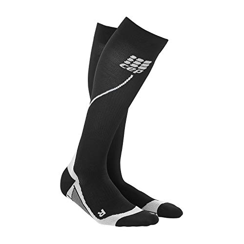 CEP - RUN SOCKS 2.0, long running socks for men, black / grey, size V, compression sport socks