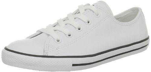 Converse Dainty Leath Ox, Baskets mode mixte adulte Blanc