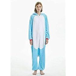 JIAWEIDAMAI Hiver Adulte Kigurumi Hommes Femmes Licorne Vêtements De Nuit Pyjama À Capuche Homewear AdulteFlanelle Combinaison