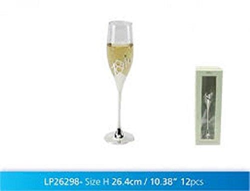 Leonardo personnalisé Plaqué Argent Happy 18th Birthday Flûte à Champagne dans Une boîte Cadeau – Ajoutez Votre Propre Message