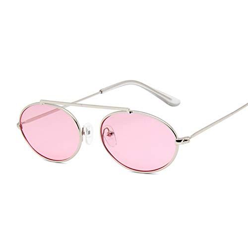 Kjwsbb Kleine ovale Spiegel-Sonnenbrille-Frauen-rote weibliche Eyewear-Schatten-Damen-Legierungs-Sonnenbrille UV400 Eyeglass