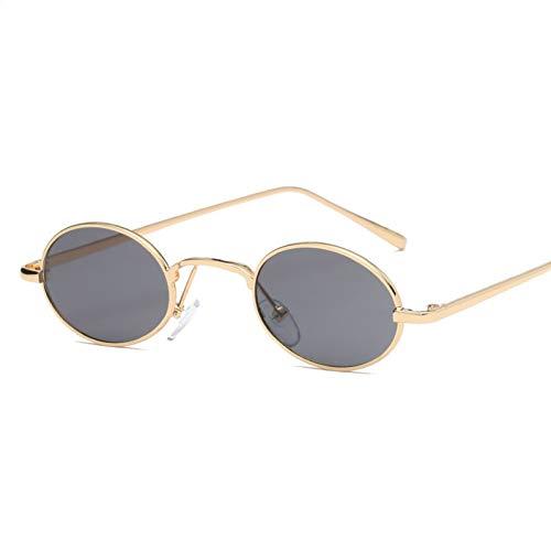 ADGJLI Owl City Vintage Sonnenbrille Frauen Kleine Runde Sonnenbrille Retro Damen Sonnenbrille Schwarz Gelb Farbe Objektiv Eyewear