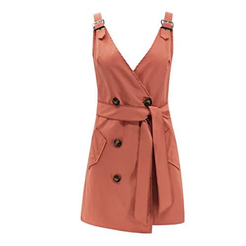 4cbff246e932 SXZG Personality Women Waist Dress Shoulder Strap Fashion Sexy Shirt deep V  Bag Hip Skirt Tide Pink