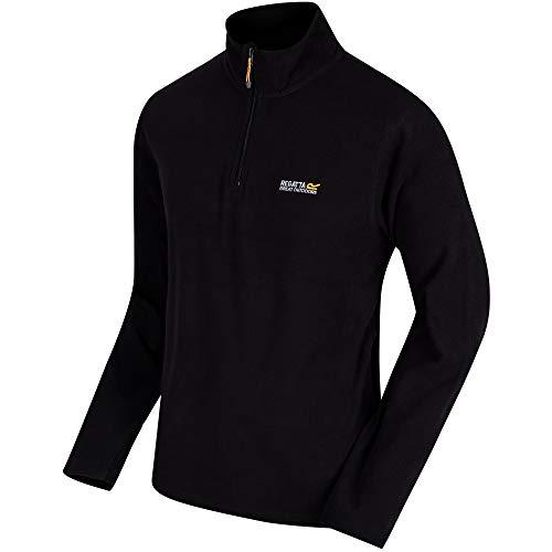 Regatta Thompson Herren Fleece Jacke, Schwarz, 52-54 EU (Herstellergröße: L) Fleece-shirt Für Herren-jacke