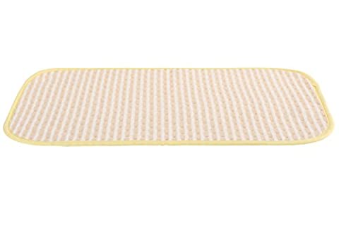 Baby Waterproof Washable Diaper Changing Mat (Brown striped 19.5x27.5 (2 White Piatto Mat)