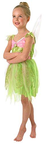erdbeerloft - Mädchen Karneval Tinkerbell Komplett Kostüm, lindgrün, Größe 98-104, 3-4 Jahre (Disney Peter Pan Qualität Kostüme)