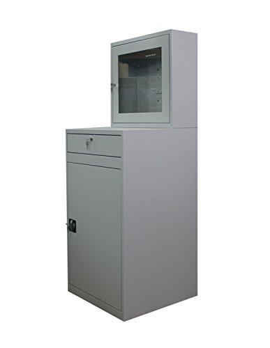 Computerschrank Computer Aufbewahrung Schrank mit Steckdosenleiste & Ventilator