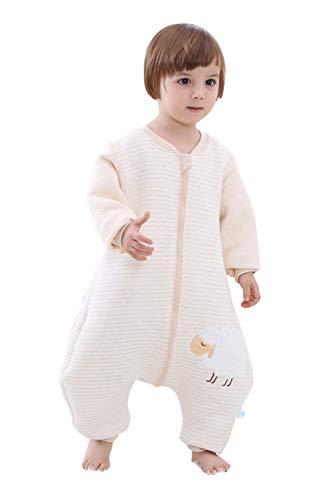 Babyfat sacco nanna/pigiama con piedini neonato bambino autunno/invernale 2.5tog - pecora - cammello label 90(1-2t)