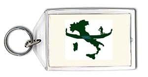Schlüsselhalter mit der Grafik: italien karte