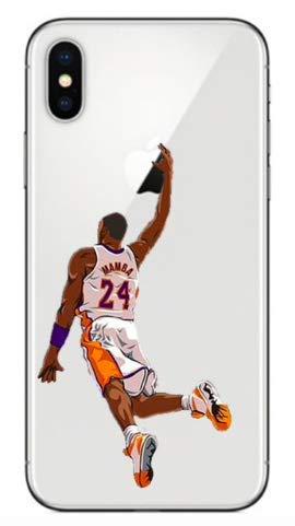 Art Design Hülle für iPhone X/iPhone XS Kobe Bryant Lakers Mamba 24 Basketball NBA Soft Silikon