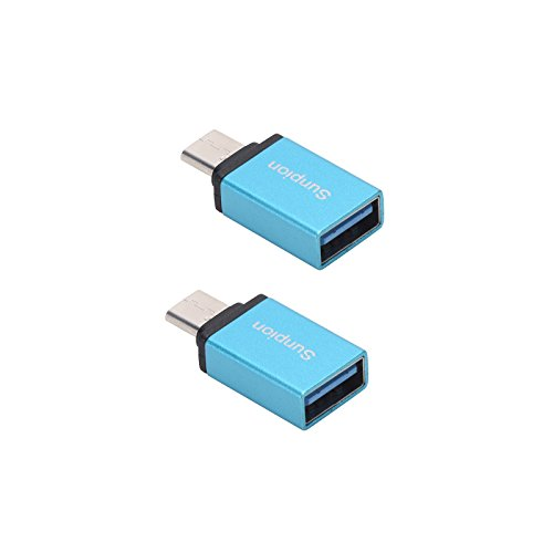 (Pack of 2)USB Tipo C Cavi, Sunpion® USB C a USB 3.0 Adapter Convert Connector, for Huawei P9,ChromeBook,HTC 10, LG G5, Nexus 5X, Nexus 6P, OnePlus 3 and Others Devices (Blue)
