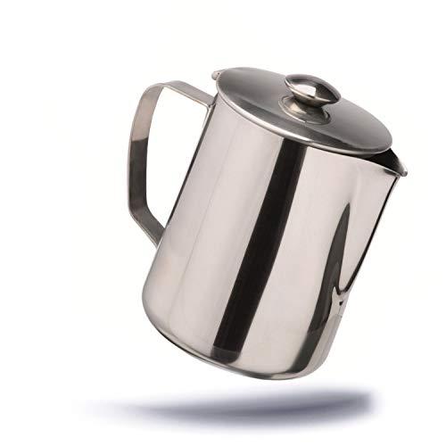 Kerafactum Cafetière à pichet en Acier Inoxydable avec Couvercle pour thé ou café 1 l