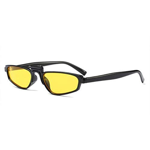YHEGV Kleine cateye Sonnenbrille Frauen einzigartige Vintage Design Brillen kleinen Rahmen cat Eye Stil Sonnenbrille lustige Sonnenbrille Shades