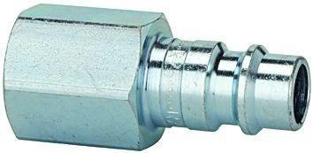 Nippel für Kupplungen NW 7,2-7,8, Stahl gehärtet/verz, G 1/4 IG, Betriebsdruck 0-35 bar, Mediums-/Umgebungstemp. -20°C bis 100°C
