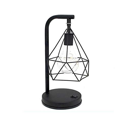 Ruiting Lámpara Geométrica LED Lámpara Hueca de Metal Estilo de Nórdico Lámpara de Mesa de la Noche Decoración Fiesta para Dormitorio para Boda Día San Valentín