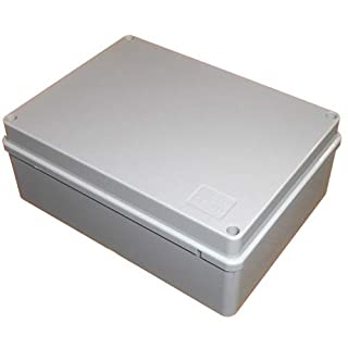 Junction Box 190mm x 140mm x 70mm Waterproof IP56 PVC Plastic Adaptable Enclosure Outdoor Lighting Cable Electrics Connection