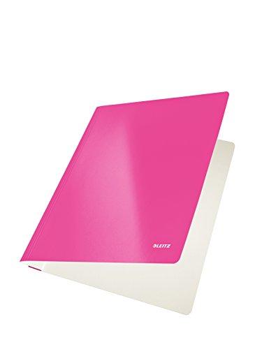 10 x Leitz Schnellhefter Wow A4 PP-laminiert 300g/qm pink metallic