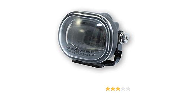 Highsider Motorrad Scheinwerfer Led Nebelscheinwerfer Micro Rechteckig Schwarz Auto
