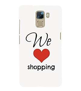 EPICCASE Love to Shop Mobile Back Case Cover For Huawei Honor 7 (Designer Case)