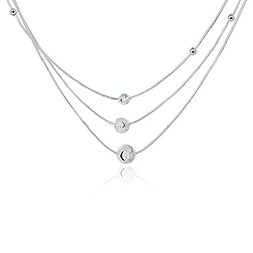 Glas Bead Kronleuchter Beleuchtung Lampe (amdxd Jewelry Anhänger vergoldet Ketten für Damen Herren Silber Scrub Bead Anhänger)