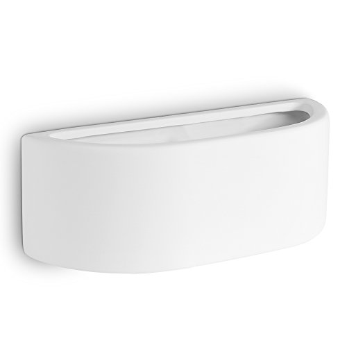 modern-white-ceramic-planter-style-flush-wall-lamp-with-light-filtering-uplighter-design-paintable