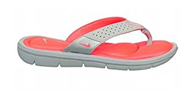 Nike Womens Comfort Thong Sandal Wolf Grey/Hot Punch 9
