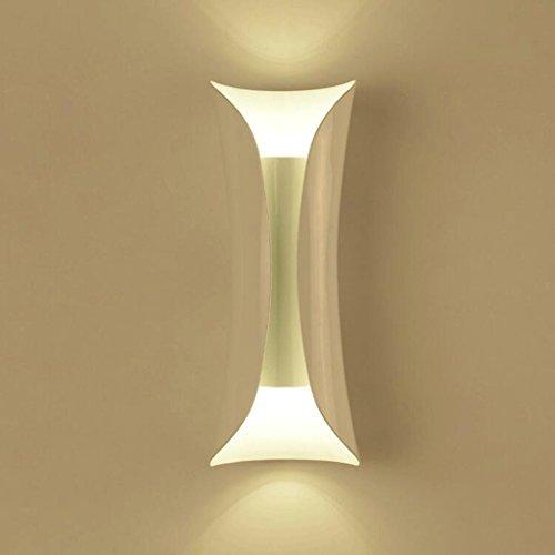 YYF Applique Moderne Minimaliste En Fer Forgé TV Mur Lumières Allée Escalier Chambre Chevet Lampe Continental Mur Lampe Corridor Mur Lampe (Couleur : B)