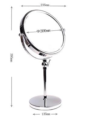 HIMRY Designed Kosmetik Spiegel / Kosmetikspiegel, 8 inch, 360° drehbar. 2 Spiegel: normal und 3 - fach / 5 - fach / 7 - fach / 10 - fach Vergrößerung, 17,5 cm ø, verchromten, KXD3101 von Kxshop bei Spiegel Online Shop