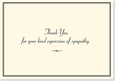 Sympathy Thank You Notes (Sympathy Note)