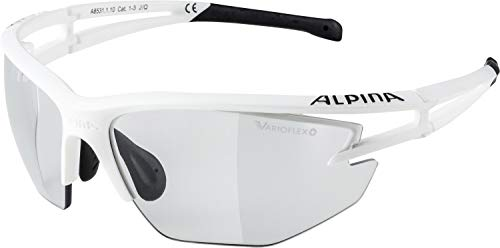 Alpina Sonnenbrille Performance EYE-5 HR VL+ Sportbrille, white matt-schwarz, One Size
