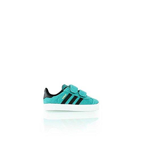 adidas Unisex Baby Gazelle 2 CF I Sneaker, Grün/Schwarz/Weiß (Eqtver/Negbas/Ftwbla), 20 EU (Gazelle 2 Schwarz Adidas)