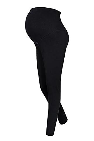 Lot de 2 leggings capri maternité, Noir, L