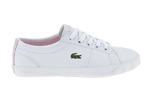 Lacoste Junior Bianco & Rosa Marcel LCR Sneaker-UK 5.5
