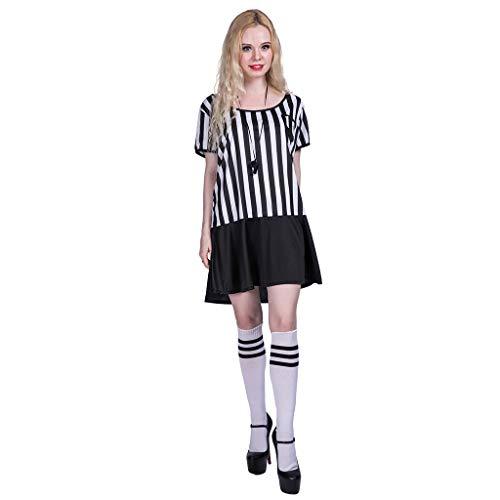 EraSpooky Damen Schiedsrichter Kostüm Faschingskostüme Cosplay Halloween Party Karneval Fastnacht Kleidung für - Schiedsrichter Kostüm Für Erwachsene