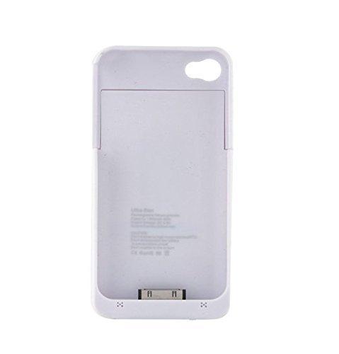 Coque batterie externe pour iPhone 44G 4S vandarui® Étui Chargeur Power Bank Batterie rechargeable 4000mAh Batterie Externe De Secours Rallonge Étui avec support intégré emballage blanc