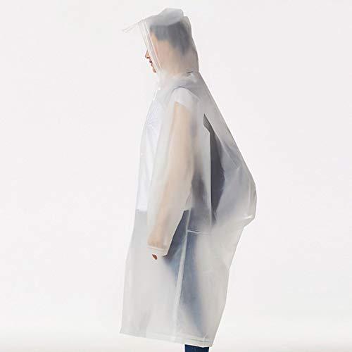 Poncho Band (Giow Regenmantel Koreanische Version Erwachsene Männer Und Frauen Im Freien Zu Fuß Bergsteigen Tourismus Transparent Dünnschliff Umweltschutz Geschmacklos Band Rucksack Poncho)