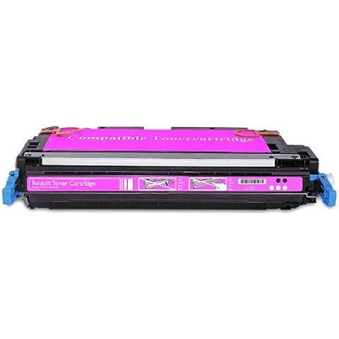 Compatible para HP Color LaserJet 3000 DTN Cartucho de Tóner Q7563A Magenta 3500 páginas