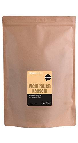 Boswellia-extrakt (Wohltuer Premium Weihrauch Kapseln   200 Weihrauchkapseln mit 65% Boswellia-Säure   Boswellia Serrata Extrakt hochdosiert frei von Zusätzen)