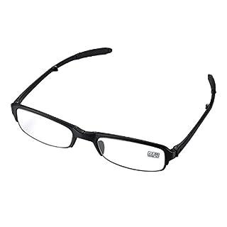 Aroncent Lesebrille schwarz in Verschiedenen Stärken, Lesehilfe Sehhilfe Augenoptik Halbrand Halbrandbrille Brille für Damen Herren +2.00