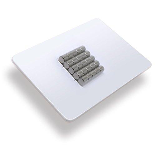 25 x Cylindres magnétiques néodyme   Diamètre Ø 5 mm, Longueur 5 mm   nickelé (NiCuNi)   Force d'adhérence environ: ~ 0.8 kg   extra fort / haute qualité   25 pc. super puissants Aimant Cylindre