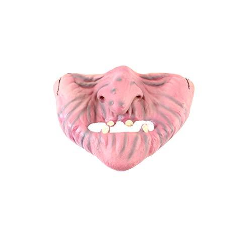 YaptheS Lustige halbe Gesichtsmaske Latex Material Halloween-Maske Scary Partei Clown halbe Gesichts-Kostüm für Halloween-Weihnachtsfest-Bevorzugung - Modell GY03