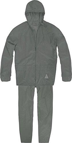 normani Unisex - Erwachsene Regenanzug (Jacke und Hose) - 100% wasserdicht Farbe Grau Größe M