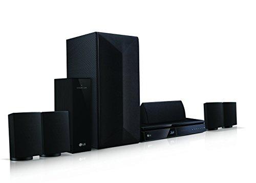 LG LHA725 5.1 3D Blu-ray Heimkinosystem (1000 Watt, Smart TV, DLNA, Bluetooth, 1080p Upscaling) schwarz - 3