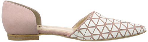 Objects in Mirror W014, Baskets Basses femme Multicolore - Mehrfarbig (ROSA/BIANCO)