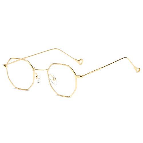 YOUQING Unregelmäßige achteckige Sonnenbrille Retro Metall transparent, Retro Party Sonnenbrille John 60er Jahre Stil Kreis Brille für Party Prop Gefälligkeiten, Dekorationen, Spielzeug Geschenke
