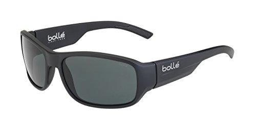 bollé Erwachsene Heron Sonnenbrille, Matt Black, Medium