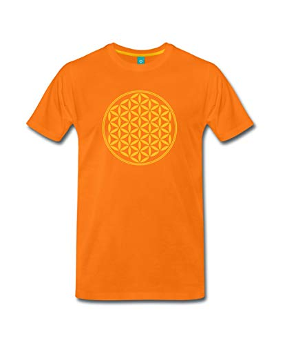 Spreadshirt Blume des Lebens - Flower of Life Männer Premium T-Shirt, M, Orange