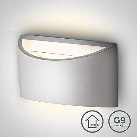 B.K.Licht I Wandleuchte G9 Fassung max. 40W I 1-flammige Wandlampe I Wandbeleuchtung I Wandstrahler I Für Innen I DIY…